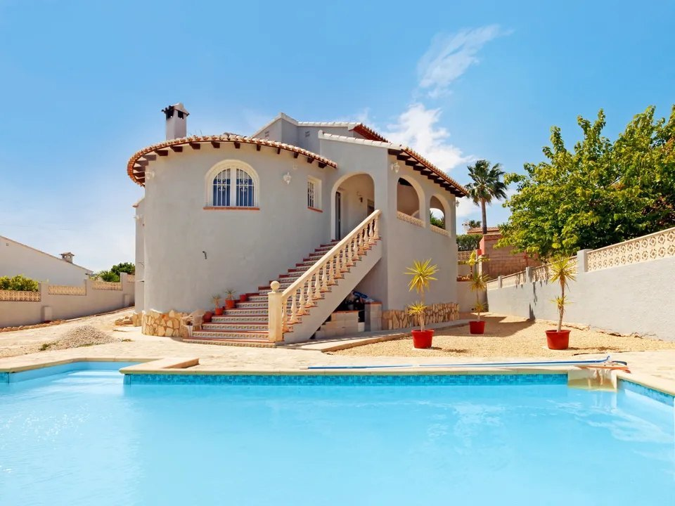 You find this villa for sale in Les fonts, Benitachell within a flat plot only a short distance to,Spain